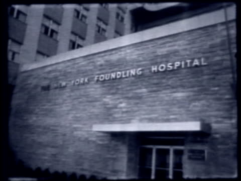 exterior of new york foundling hospital on april 01 1959 in new york new york - 1959 stock videos & royalty-free footage