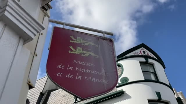exterior of normandy's regional office on jersey, the channel islands - channel islands england stock videos & royalty-free footage