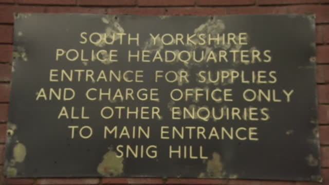 exterior of old headquarters of the south yorkshire police, that existed when the hillsborough disaster of 1989 happened - justice concept stock videos & royalty-free footage
