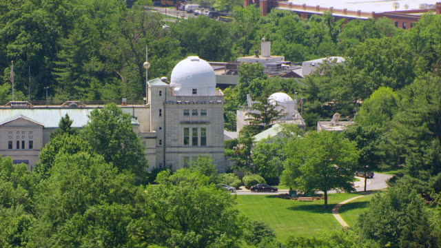 ws aerial pov exterior of old naval observatory / washington dc, united states - american culture stock videos & royalty-free footage