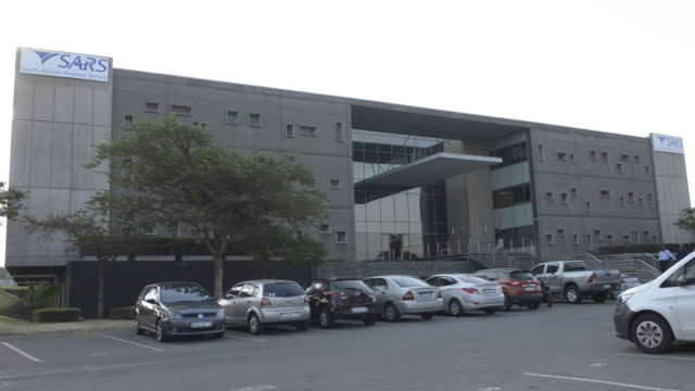exterior of sars large business center in woodmead, johannesburg, gauteng, south africa on wednesday, october 23, 2019. - western script stock videos & royalty-free footage