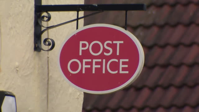 exterior of small village post office - post office stock videos & royalty-free footage