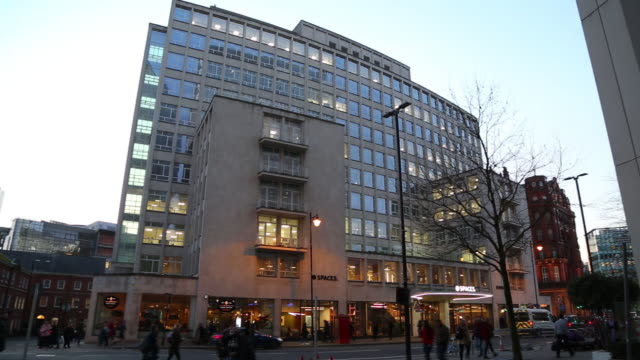 exterior of spaces peter house at oxford street, manchester, greater manchester, uk, on wednesday, february 5, 2020. - bare tree stock videos & royalty-free footage