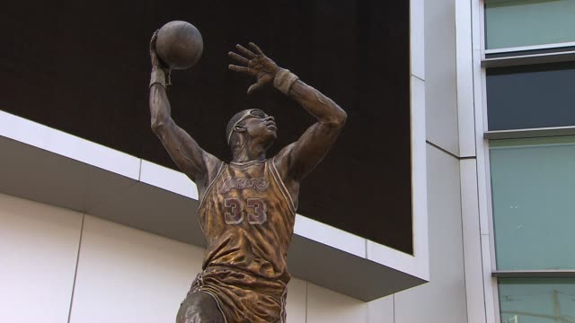 exterior of staples center - magic johnson stock videos and b-roll footage