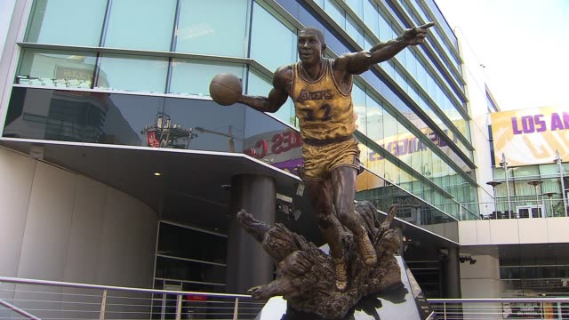 exterior of staples center - staples centre stock videos & royalty-free footage