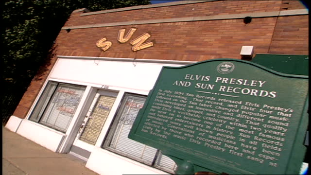 exterior of sun studio - tennessee stock-videos und b-roll-filmmaterial