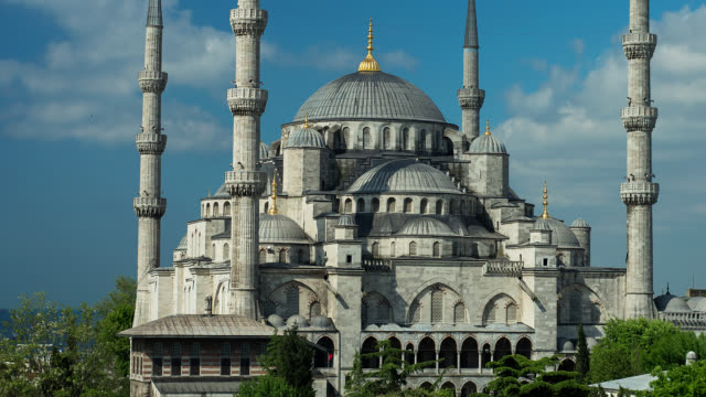 T/L PAN WS Exterior of the Blue Mosque in Istanbul, Turkey