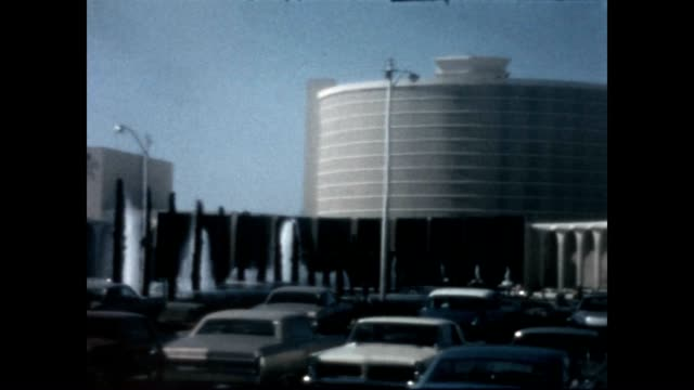exterior of the caesars palace hotel from a home movie reel - caesars palace las vegas stock videos & royalty-free footage