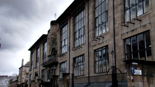exterior of the glasgow school of art in scotland. available in hd. - charles rennie mackintosh stock videos and b-roll footage