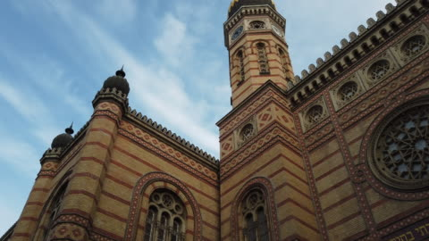 exterior of the great synagogue in budapest - judaism stock videos & royalty-free footage