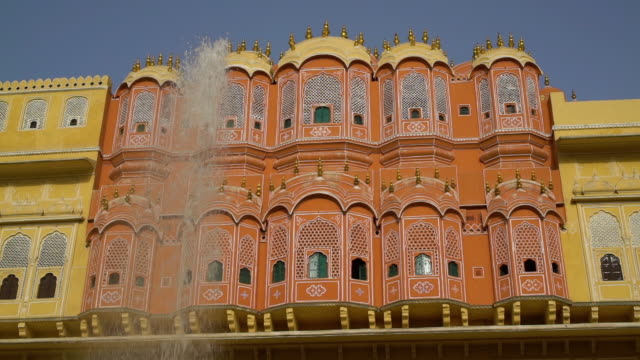 exterior of the hawa mahal. - mughal empire stock videos and b-roll footage