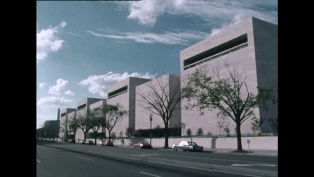 exterior of the national air and space museum; 1972 - smithsonian institution stock videos & royalty-free footage