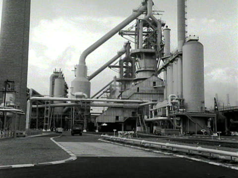 Exterior of the new steel works at Scunthorpe