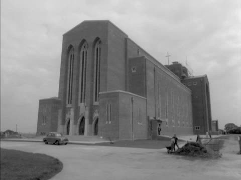 exterior of the newly built guildford cathedral - guildford stock videos and b-roll footage
