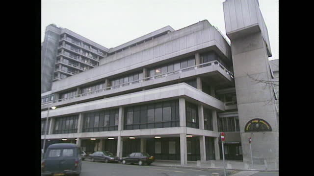exterior of the royal free hospital in london; 1991. - wide shot stock videos & royalty-free footage