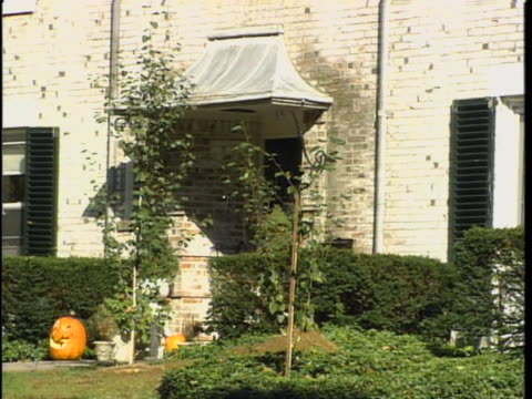 exterior of the skakel home. michael skakel was charged and convicted with killing martha moxley back in 1975. the skakels are related to ethel... - ethel kennedy stock videos & royalty-free footage