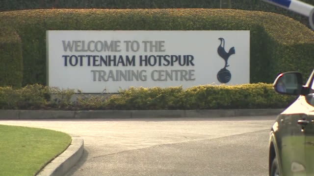 exterior of tottenham hotspur football club training ground - entrance sign stock videos & royalty-free footage