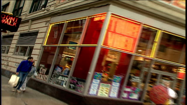exterior of tower video in new york city - tower records stock videos & royalty-free footage