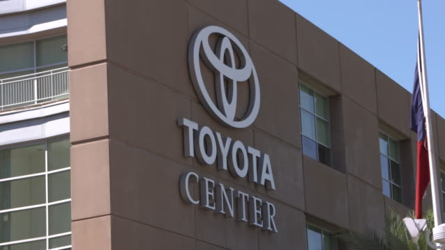 kiah exterior of toyota center an indoor arena home to the houston rockets of the national basketball association on may 5 2016 - toyota sports center stock videos and b-roll footage