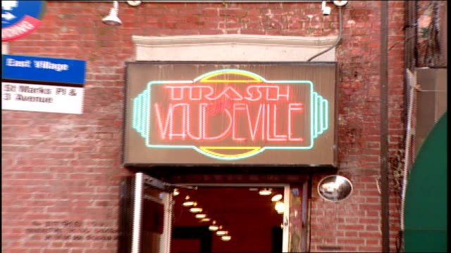 Exterior of Trash and Vaudeville and Sign in NYC