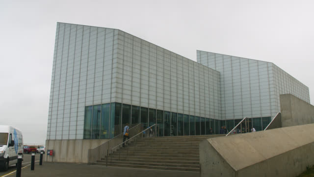 exterior of turner contemporary in margate, uk - art museum stock videos & royalty-free footage