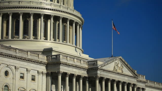 exterior of united states capitol building in washington, d.c., u.s., on wednesday, september 4, 2019. - capital cities stock videos & royalty-free footage