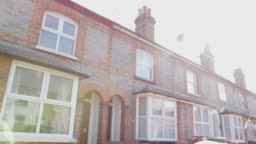 Exterior Of Urban Terraced House In Daytime