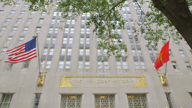 WS Exterior of Waldorf Astoria Building / Manhattan, New York City, New York State, United States