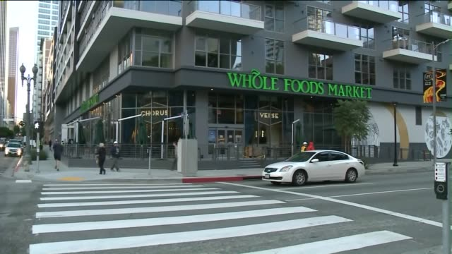 ktla exterior of whole foods in downtown los angeles on november 4 2015 - whole foods market stock videos and b-roll footage
