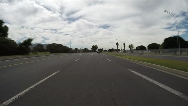 Exterior point of view driving shots through suburbs on the outskirts of Cape Town on 8 March 2018 in Cape Town South Africa