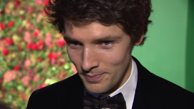 exterior red carpet interview with colin morgan at the 64th evening standard theatre awards hosted in theatre royal on november 18 2018 in london... - theatre royal stock videos and b-roll footage