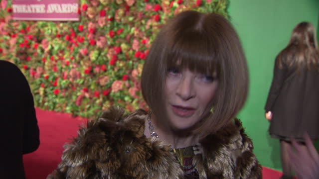 exterior red carpet interview with dame anna wintour at the 64th evening standard theatre awards hosted in theatre royal on november 18 2018 in... - theatre royal stock videos and b-roll footage