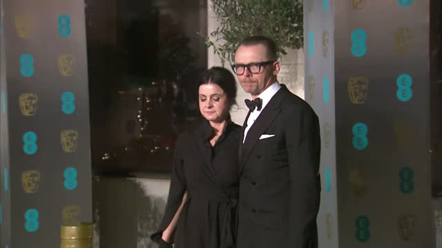 exterior red carpet shots of simon pegg and wife maureen pegg at the bafta awards at the royal albert hall on february 12th 2017 in london england... - simon pegg stock videos & royalty-free footage