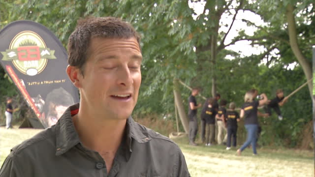 exterior shot bear grylls talks about his courses how it would be a shame if children are averse to risks of the outdoors when it should be fun on... - embarrassment stock videos & royalty-free footage