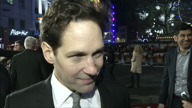 Exterior shot interview Paul Rudd on whether filming a new Anchorman would tarnish the legacy of the original Paul Rudd Interview On Anchorman 2 at...