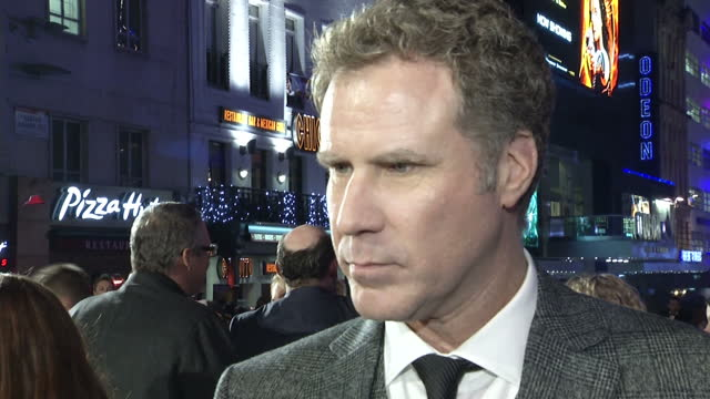 exterior shot interview will ferrell answers question on 24 hour news how he would have got into broadcasting if not an actor it being far to much... - an answer film title stock videos & royalty-free footage