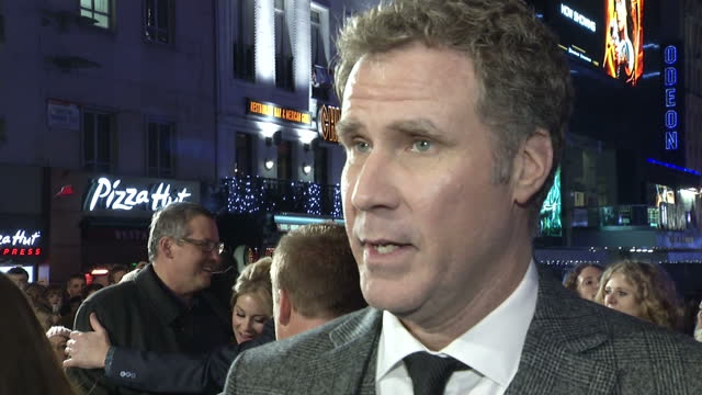 Exterior shot interview Will Ferrell on taking a pay cut for Anchorman 2 Ron Burgundy being fun to play also answers question about Anchorman 3 Will...