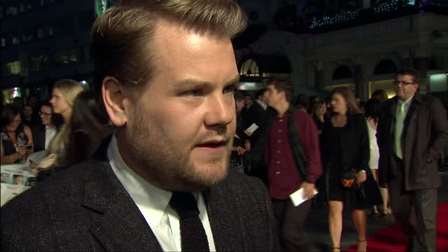 Exterior shot James Corden speak about making the film what the film represents James Corden Interview At One Chance Premiere at Leicester Square on...