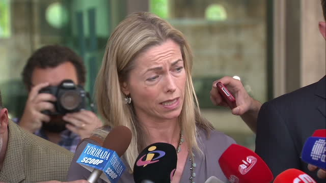 exterior shot kate mccann soundbite about goncalo amaral deliberately delaying the court case and causing her and gerry mccann more pain and... - gerry mccann stock-videos und b-roll-filmmaterial