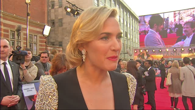 exterior shot kate winslett speaks about her past experience working on the titanic film kate winslett talks abouttitanic 3d on march 27, 2012 in... - kate winslet stock videos & royalty-free footage