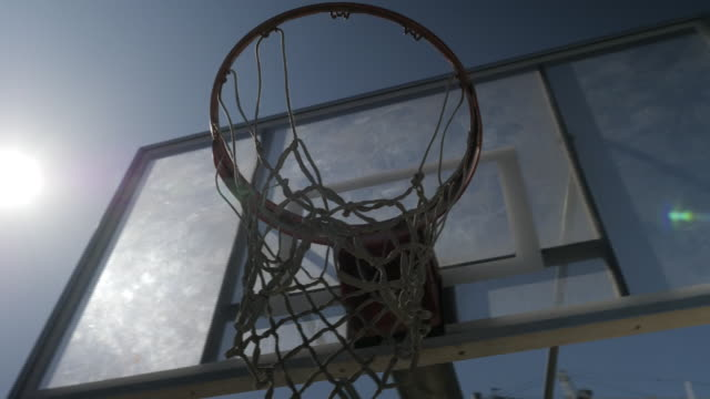 exterior shot of a basketball hoop on 8th october 2019 in los angeles, united states. - basket stock videos & royalty-free footage
