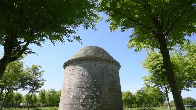 exterior shot of a french dovecote in brittany - david johnson stock videos & royalty-free footage