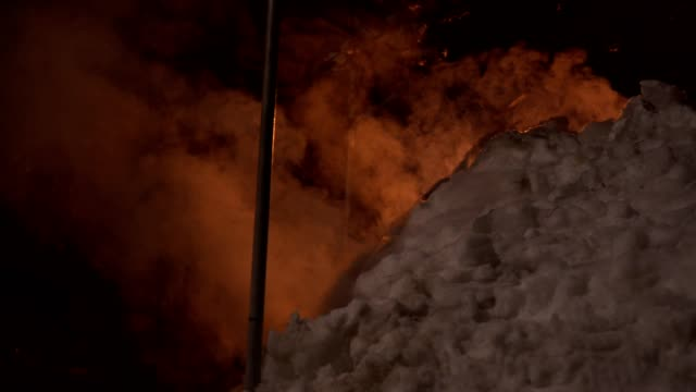 exterior shot of an igloo with a burning fire inside - burnt stock videos & royalty-free footage