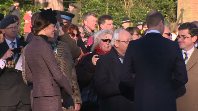 exterior shot of catherine duchess of cambridge and prince william meeting crowds at a cerermony honouring those who lost their lives in the... - duchess of cambridge stock videos and b-roll footage