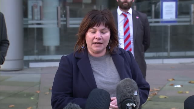 exterior shot of councillor elise wilson speaking to the media outside bridgewater hall after collapsed talks with government over the city going... - bridgewater hall stock videos & royalty-free footage