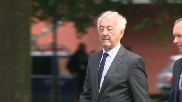 exterior shot of hillsborough stadium disaster tragedy court arrivals, alan foster, detective chief inspector at south yorkshire police, charged with... - hillsborough stadium stock videos & royalty-free footage