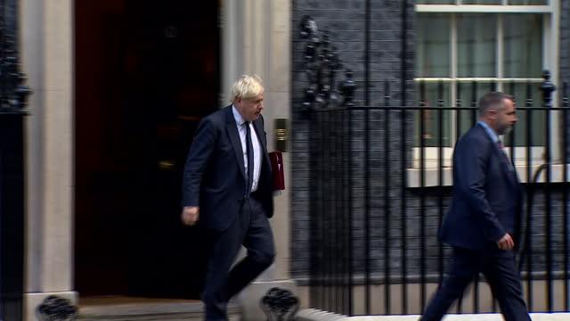 GBR: Prime Minister Boris Johnson departing Number Ten for PMQ's