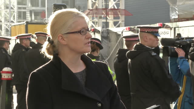 exterior shot of sue hemming head of the special crime and counter terrorism division at the crown prosecution service giving a statement following a... - counter terrorism stock videos & royalty-free footage