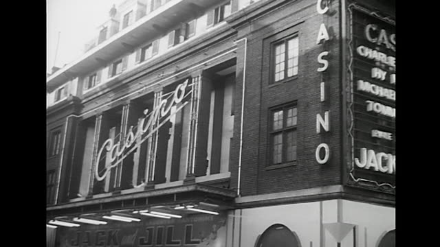 exterior shot of the casino theatre in london's soho district - casino stock videos & royalty-free footage