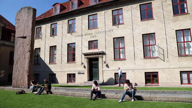 Exterior shot of the main building of the Niels Bohr Institute in Denmark For years Niels Bohr worked in humble conditions at the University of...